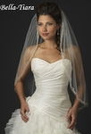 The Romance Collection - 1 Tier Fingertip Veil with Rhinestone Edge