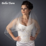 The Romance Collection - 2 Layer Elbow Length Crystal Edge Veil