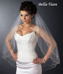 The Romance Collection - 2 Layer Elbow Length Scalloped Edge Veil