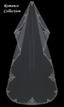The Romance Collection - Gorgeous Cathedral Mantilla Veil with Beaded Edge