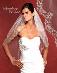 Thera - NEW 2012 Stunning scallped beaded edge wedding veil - SALE