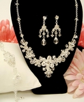 Theresa - Crystal Floral Display Necklace Set