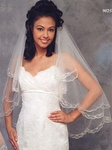 Three Tier Cathedral or Two Tier Elbow Bridal Veil (902X)