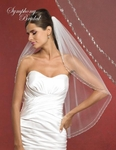 Timandra - Couture Elegant Crystal edge wedding veil - SALE
