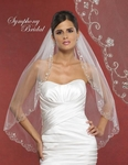 Tirza - Romantic scalloped embroidered edge wedding veil - SALE