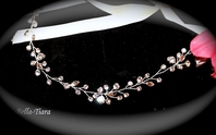 Swarovski crystal wedding vine halo ribbon headband - SALE