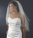 Traditional beauty 2 -tier corded edge wedding veil - SPECIAL!!