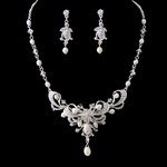 Traditional beauty freshwater pearl crystal bridal tiara - SALE!!