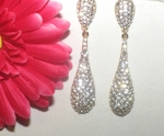 Treasure - Stunning light gold setting crystal earrings - SALE!!