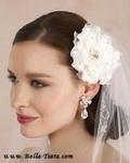 Trinity - Beautiful crystal accented wedding hair flower - Amazingly Priced