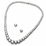 True Elegance Tennis CZ necklace set - SPECIAL