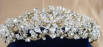 True - Royal collection- DAZZLING gold or silver crystal bridal headpiece - SALE!!!