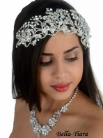 Truebeauty - Royal collection dramatic Swarovksi crystal wedding headband - SPECIAL