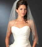 Twilight - GORGEOUS scalloped delicate crystal edge wedding veil - Special