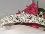 UNIQUE, VINTAGE crystal pearl headband tiara - SALE!!