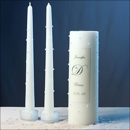 Unity Candle - Pearl Bella - Custom