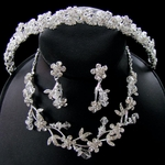 Valeria -- Couture Crystal Headband with Matching Necklace set