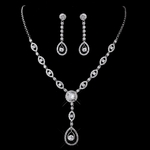 Vanna - Couture CZ wedding necklace set - SALE