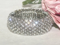 Velina - Beautiful Swarovski crystal Bridal bracelet - SALE!!
