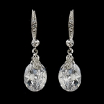 Venece - Elegant CZ dangle wedding earrings - SALE