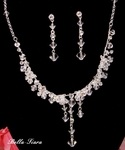Venetia - Dazzling Swarovski Crystal Bridal Necklace Set