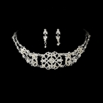 Victorian royal silver bridal choker necklace set - SUPER SALE!! one left