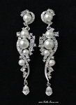Vila - Gorgeous pearl and crystal drop wedding earrings - SPECIAL - HOT BACK IN STOCK