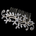 Vintage gold swirl crystal wedding hair comb - SALE
