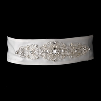 Vintage inspired crystal wedding sash belt - SALE