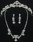 Vintage-Inspired Freshwater Pearl Tiara and Necklace Set