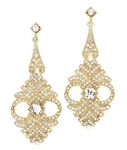 Vintage-inspired Gold Drop Crystal Earrings