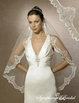 Vintage-inspired gorgeous lace edge bridal veil-5498