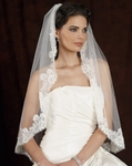 Vintage Mantilla lace bridal veil - Edward Berger 4117 - SALE!!