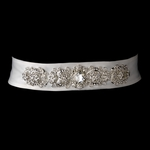 Vintage Rhinestone Crystal Wedding Sash Bridal Belt - sale