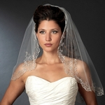 Vintage royal beaded wedding veil - SALE