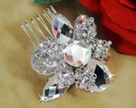 Vintage Style Bridal Crystal Hair Comb or Brooch