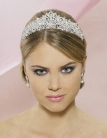 Vitalia - Stunning ROYAL CRYSTAL CROWN bridal tiara - SALE!!