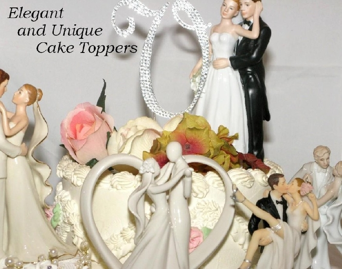 Crystal Number Cake Toppers