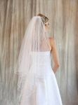 Wedding Veil Waltz Length Angel Cut   - SALE