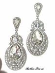 Wendy - Rhinestone statement wedding earrings - SPECIAL
