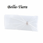 White Satin Dyable Wedding Purse
