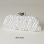 White Satin Evening Bag