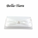 White or ivory Satin Wedding Purse