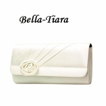 White Silk Satin Dyable Wedding Purse