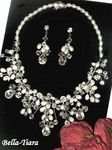 Yasmine - Stunning freshwater ivory pearl and crystal necklace set - SPECIAL