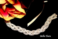 Zhandal - Beautiful rhinestone stretch or ribbon headband - SPECIAL