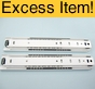 "14"" Poly Ball Full Extension Drawer Slides (White)"