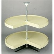 "24"" Pie Cut Lazy Susan (Almond) - Two Shelf Set"