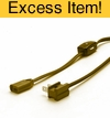 Power Cord W/Roll Switch (Brown)