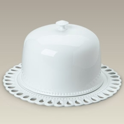 "14"" Cake Plate with Dome Cover"